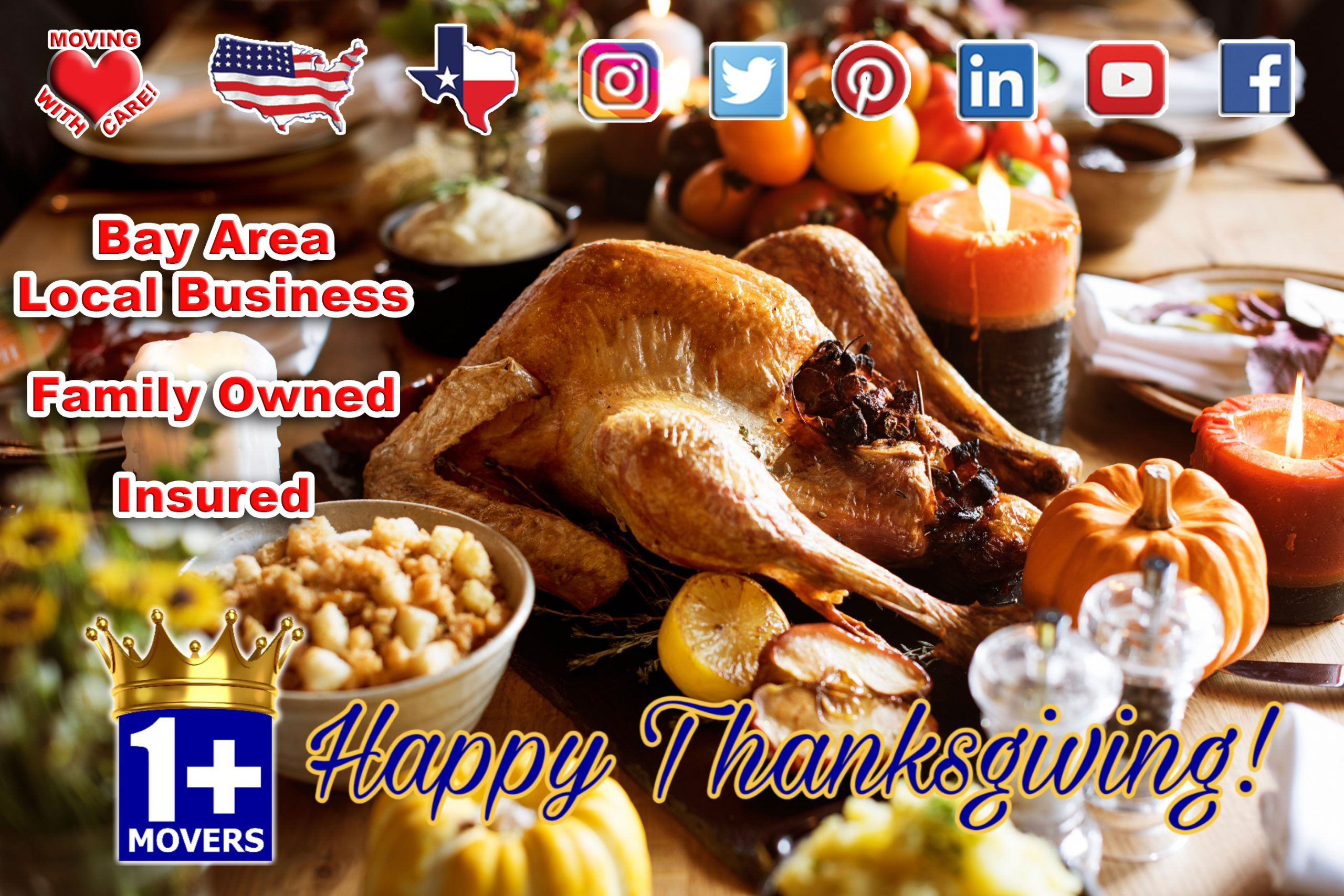 Image Of Thanksgiving Feast From 1+Movers